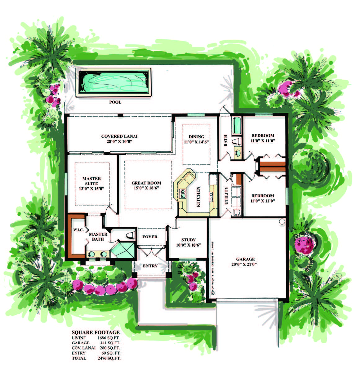 Agualinda floor plan distribution