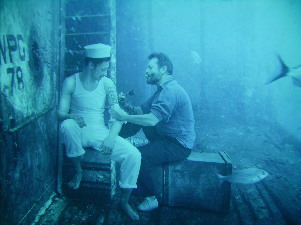 One of Andreas Franke's pictures from the art display on the USS Mohawk.